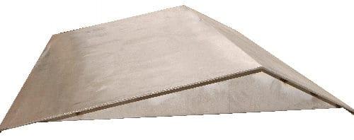 Seuil jaugeur ISO 4360 en acier inox 316L avec son profil triangulaire