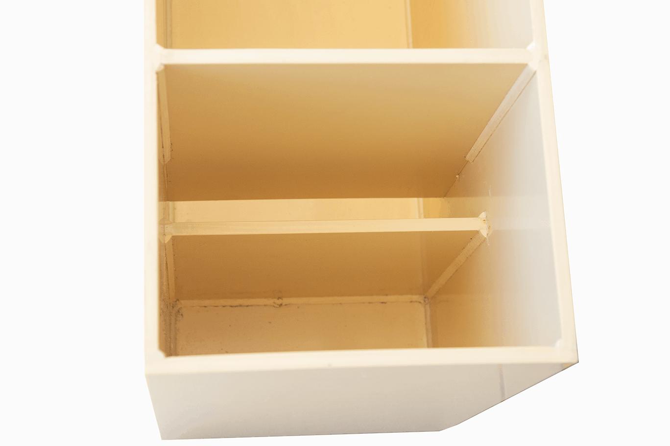 Cloisons siphoïdes à l'amont du bac jaugeur ISO 1438